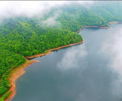 佛岭公园云雾缭绕美如画