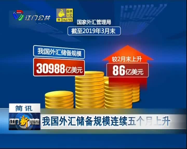 我国外汇储备规模连续五个月上升