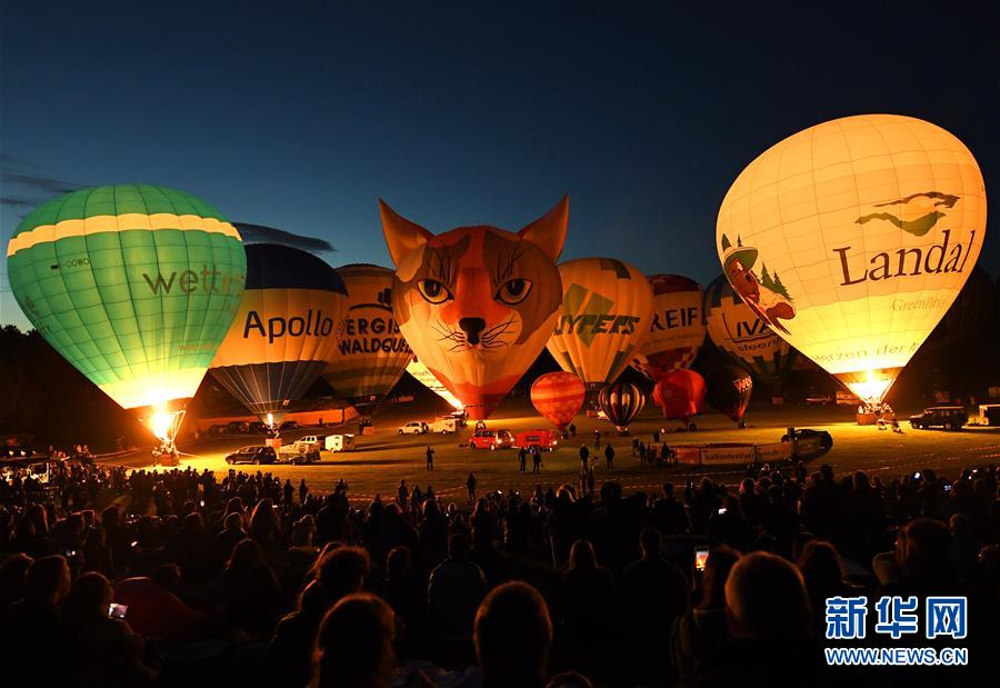 德国波恩举行热气球节