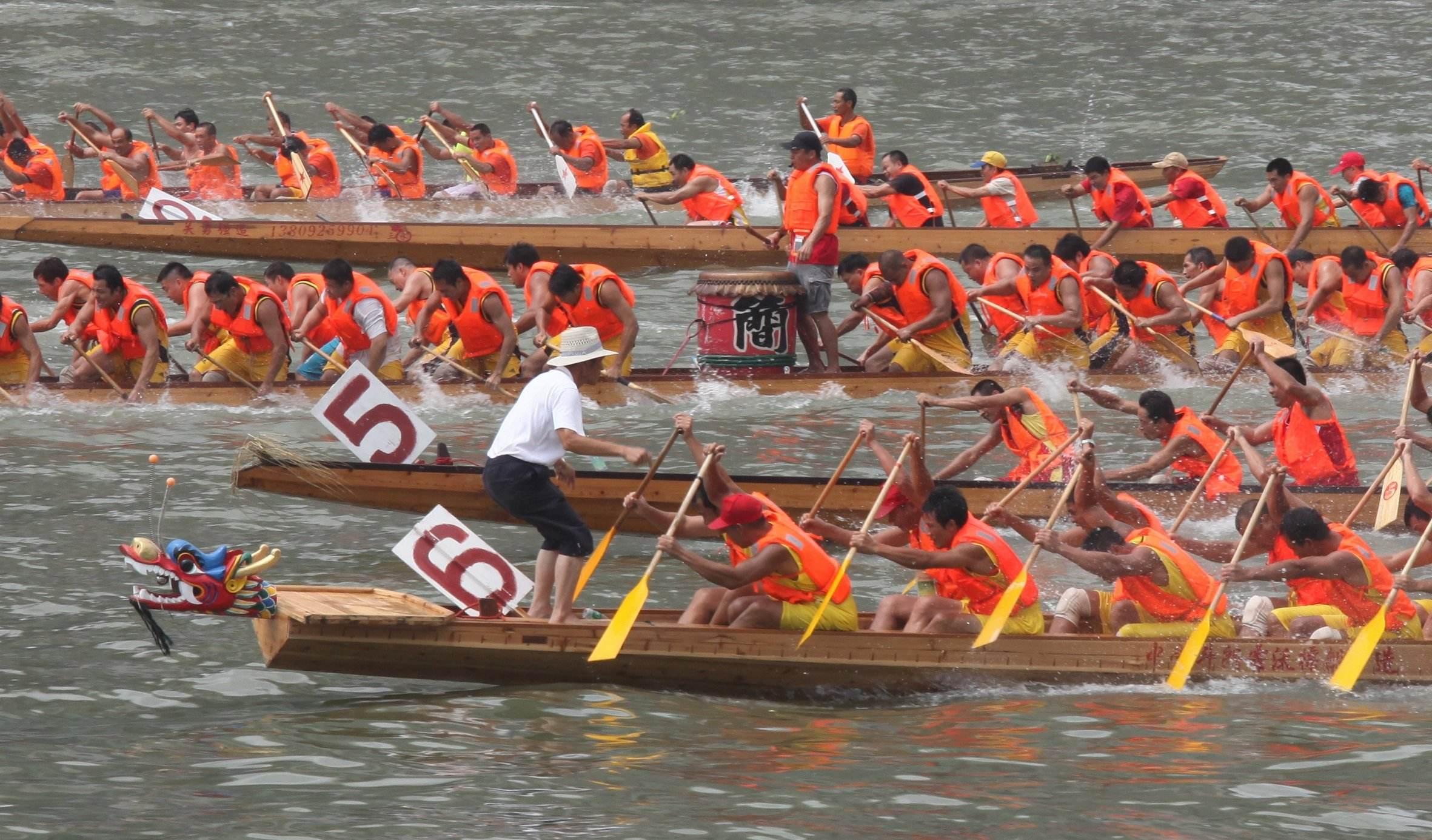 2019年广州国际龙舟邀请赛珠江开赛