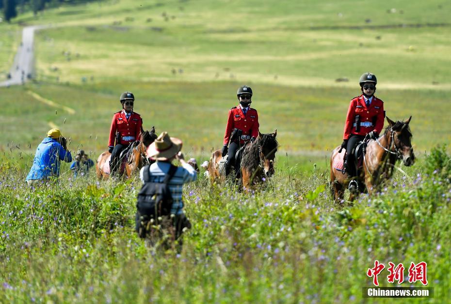 草原上的女子骑警队