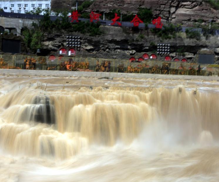 壶口瀑布百米长瀑布群