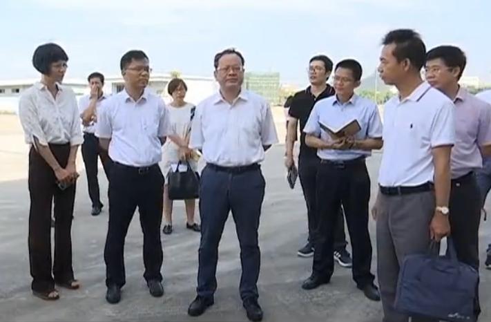 刘毅检查督导江门大广海湾保税物流中心和天马港二期港区建设