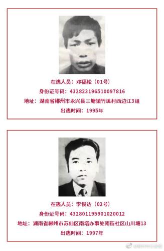 湖南郴州公安悬赏120万,缉捕12名涉嫌杀人在逃人员