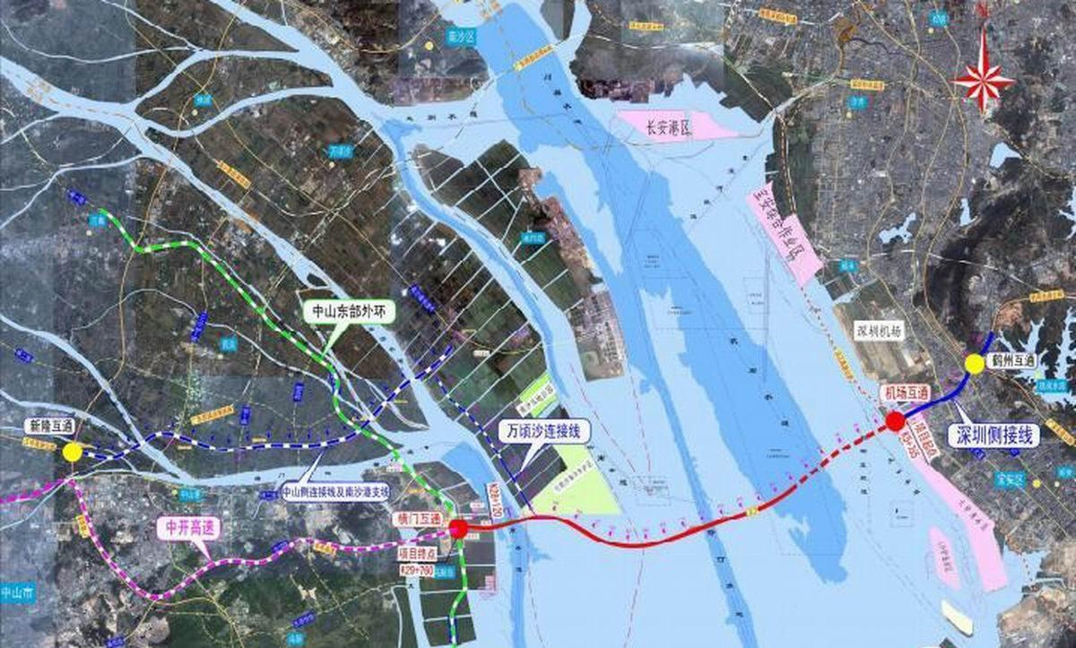 广州南沙将建高速公路连接深中通道
