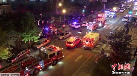 美国首都华盛顿发生两起枪击案已致1死8伤