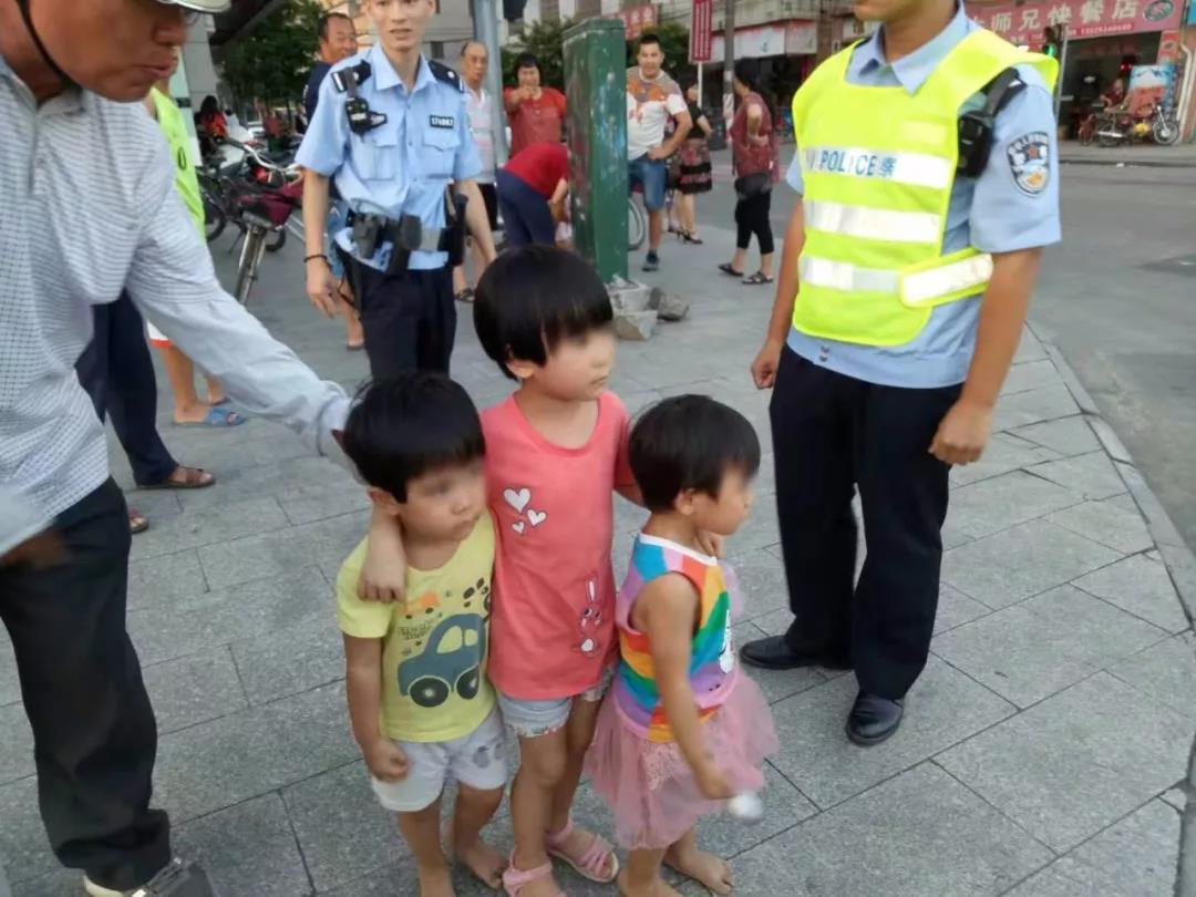 4名孩童街頭走失 遇熱心市民和警察