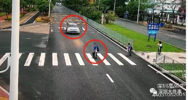 深圳一学生走斑马线 被车撞飞身亡
