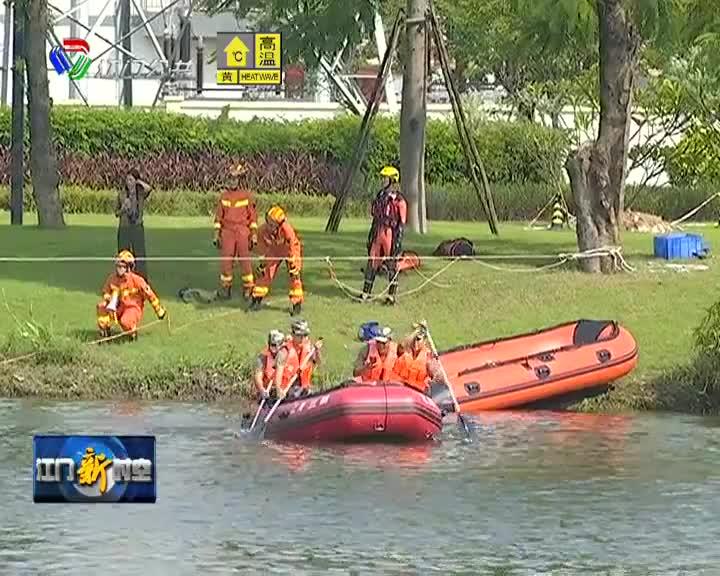江海区举办水域洪涝灾害救援实战演练