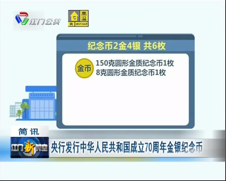 央行发行中华人民共和国成立70周年金银纪念币