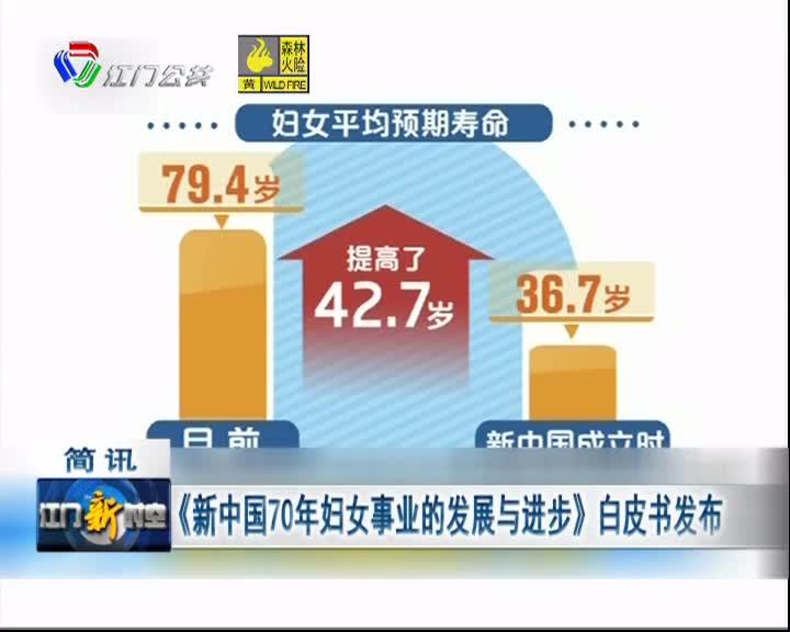 《新中国70年妇女事业的发展与进步》白皮书发布