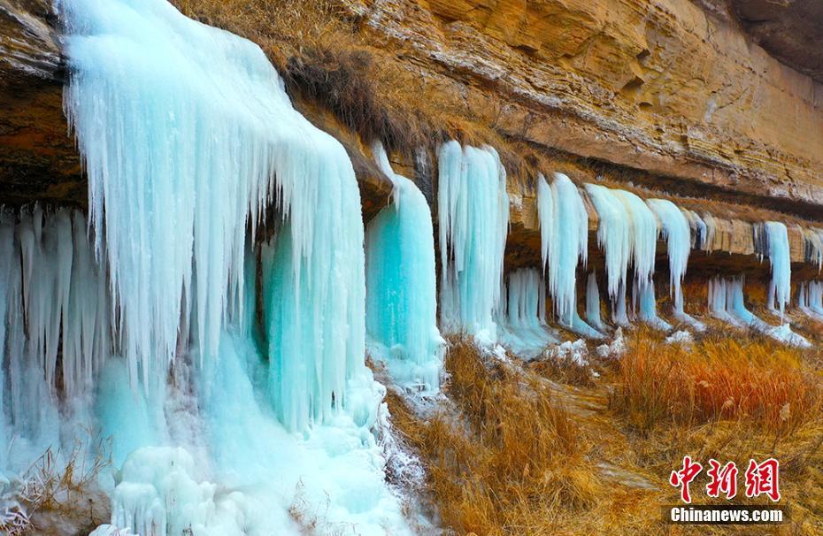 黃土塬罕見規模冰瀑群