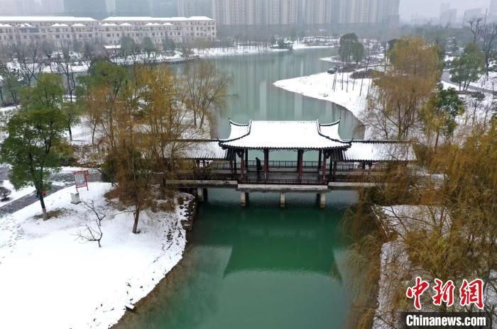 安徽雪染水墨映江淮