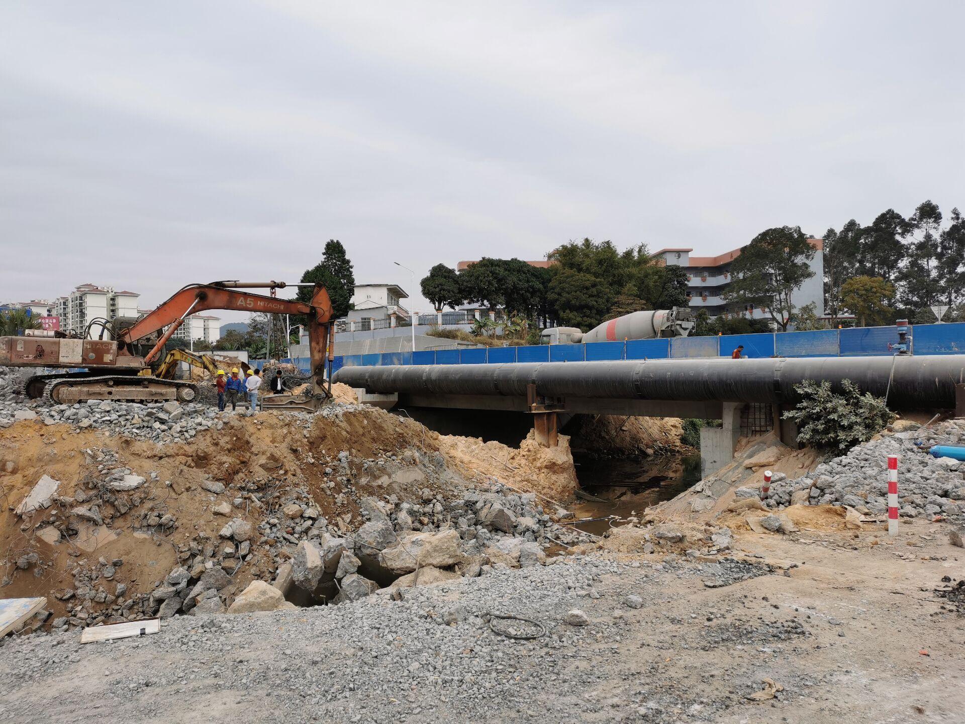 丹灶橋舊橋被拆除 江僑路改造工程進入收尾階段