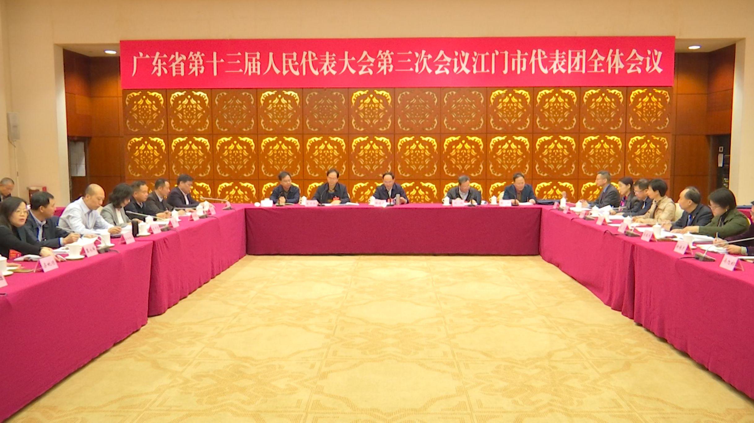 廣東省十三屆人大三次會議明天開幕 林應武被推選為江門代表團團長