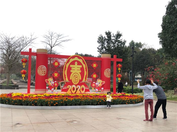 江门市区装扮一新喜迎2020新春佳节