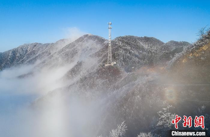 江西太平山云雾缭绕