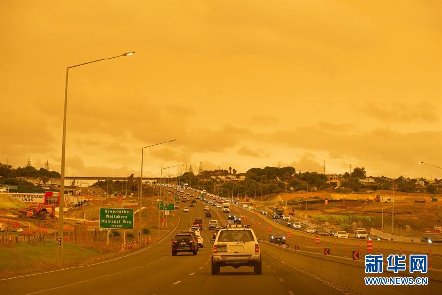 烟尘笼罩新西兰北部