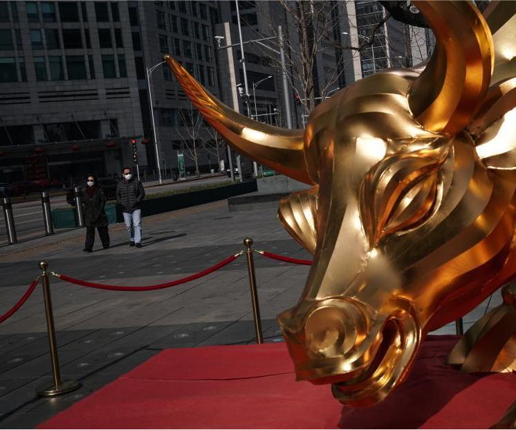 北京金融街人流漸增