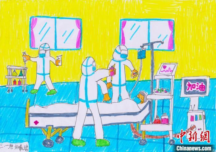 特殊的寒假作业 重庆小学生绘画记录抗疫百态