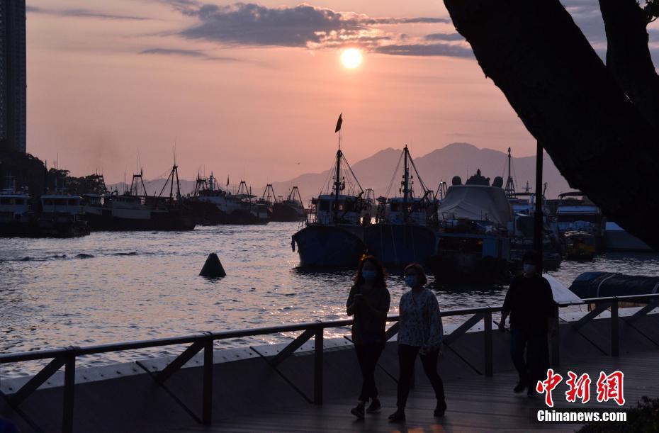 香港南区日落景色宜人