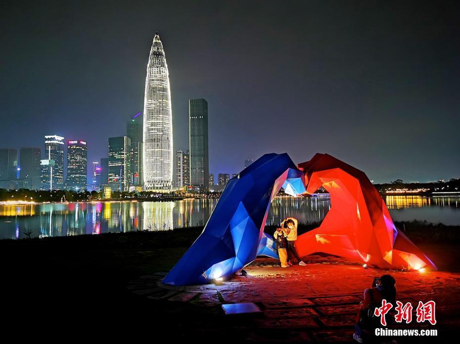 深圳:燈光璀璨夜色美