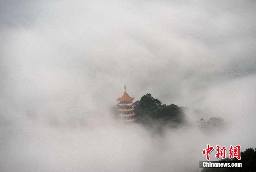 梧州云霧繚繞美如仙境