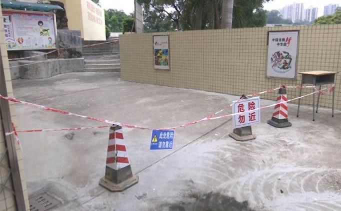 蓬江区周郡小学垮塌挡土墙8月底前完工