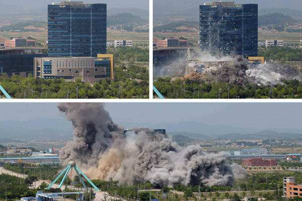 联络大楼被爆破 朝鲜半岛局势陷入对峙