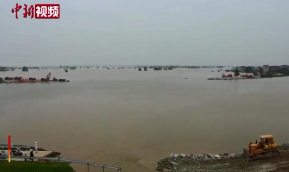 鄱陽湖水位仍超警戒3.11米 江西繼續發布洪水紅色預警