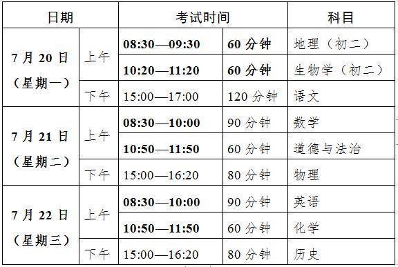 广东初中学考20至22日举行 建议考生考前14天在校住宿