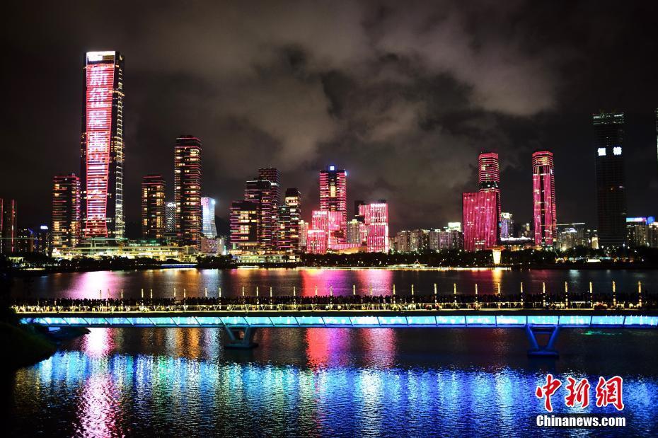 """深圳全城亮灯为经济特区建立40周年""""庆生"""""""