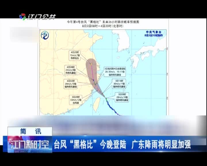 """台风""""黑格比""""今晚登陆 广东降雨将明显加强"""