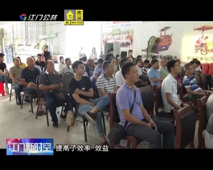 江门:推广水稻机械化直播技术 发展机械化智能化农业