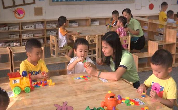 蓬江区两个新改建公办幼儿园园区投入使用